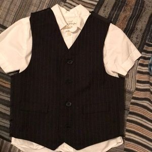 H&M button down shirt and vest selling as 1 piece